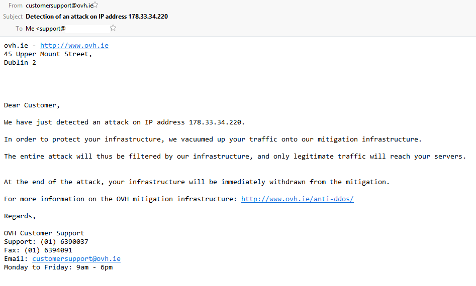 DDoS Protection email