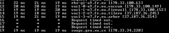 server 1 tracert
