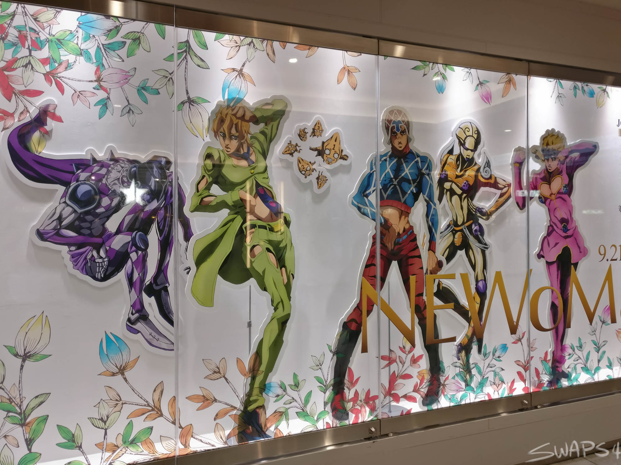 JoJo's Bizarre Adventure Golden Wind x NEWoMan in Shinjuku