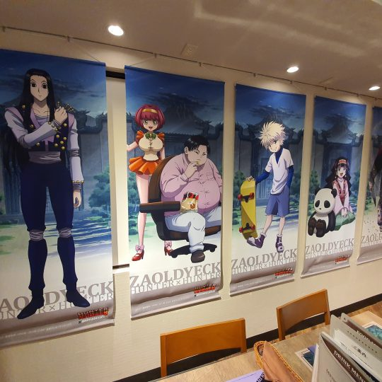 Hunter x Hunter Cafe at Animate Cafe 3 Ikebukuro