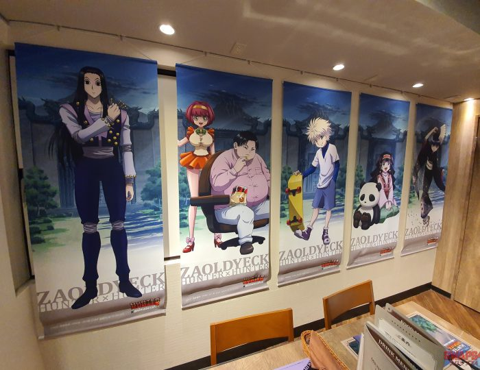 Hunter x Hunter Cafe at Animate Cafe 3 Ikebukuro